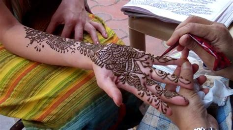henna tattoo in india youtube