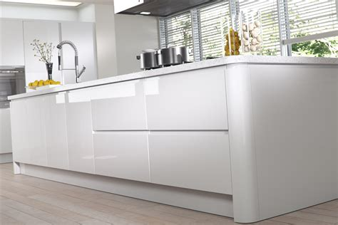 Kitchen Cabinet Doors And Drawers Replacement strada gloss white handleless kitchen doors 115 x 597 slab