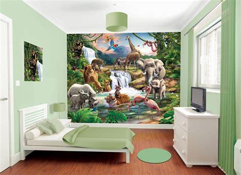 Bella Immagini Camerette Per Bambini #1: camerette-bambini-murales-giungla-parete.jpg