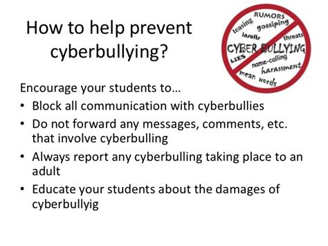 ten tips to prevent cyberbullying the anti bully blog cyberbullying powerpoint