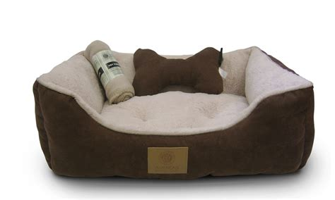 akc dog beds akc pet bed set with pillow and blanket groupon
