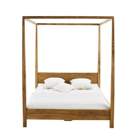 letto baldacchino maison du monde letto a baldacchino 160 x 200 in massello di tek amsterdam