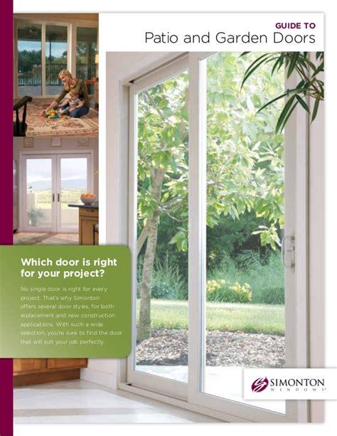 Simonton Guide To Patio And Garden Doors Garden Patio Doors