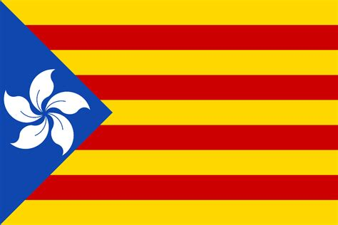 Flag Independence hong kong independence flag in the style of catalu 241 a