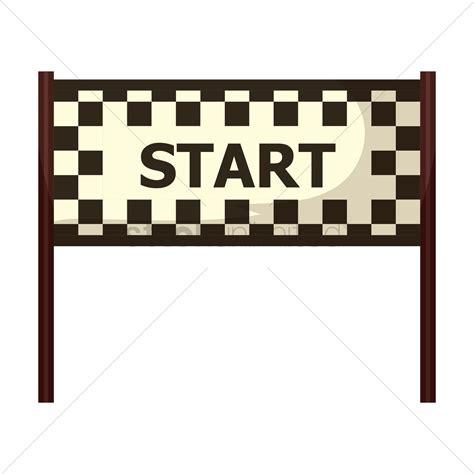 art startup free circuit start line vector image 1444212