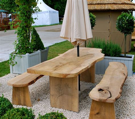 garden table and bench solid wood garden furniture at the galleria