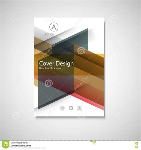 cover design for annual report catalog or magazine book