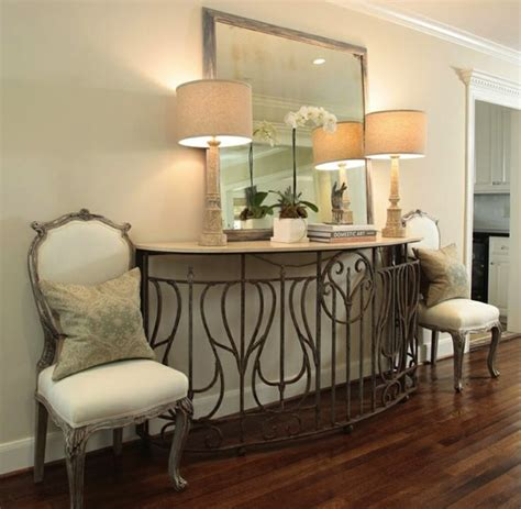 Front Entry Table Create Impact With Console Tables In The Entry Artisan Crafted Iron Furnishings And Decor