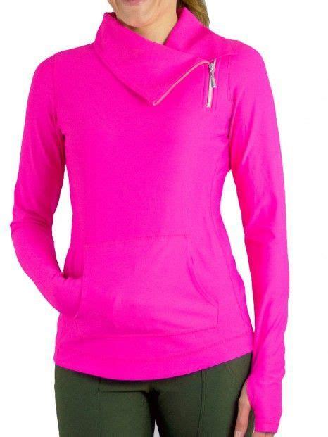 Jaket Sweater Hoodie Jumper Fitnes jofit plus size fitness jumper jackets fluorescent pink nicolestennisboutique