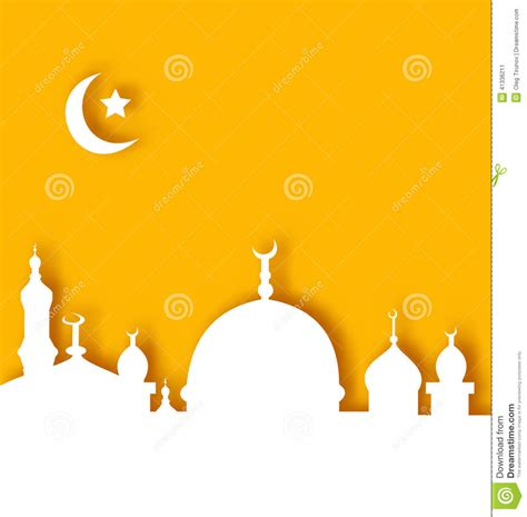 islamic architecture background ramadan kareem stock