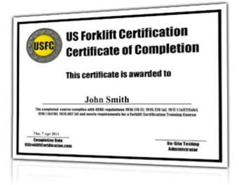 forklift certification template forklift certification 38 earn a fork lift operator s