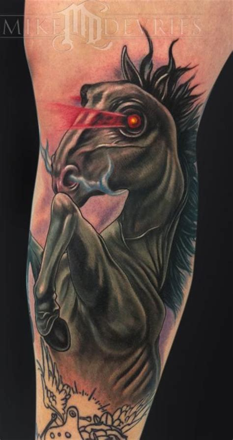 dark horse tattoo by mike devries tattoos