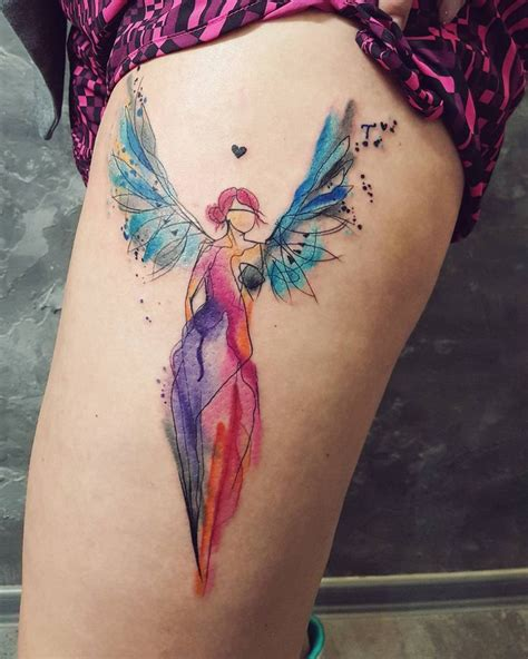 watercolor tattoo nederland 17 beste idee 235 n engel vleugel tatoeages op