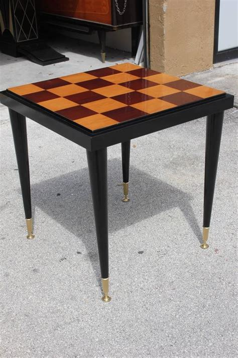pattern table games stunning french art deco checkerboard pattern black