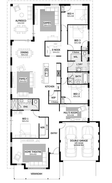 cost to furnish a 4 bedroom house best 25 single storey house plans ideas on pinterest
