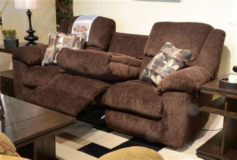 catnapper transformer reclining sofa transformer 2 reclining sofa set in chocolate fabric