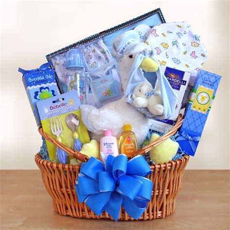 Baby Shower Gifts Ideas For Boys by Special Stork Delivery Baby Boy Gift Basket Baby Shower
