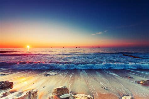 sunrise over sea custom wallpaper