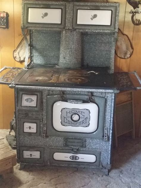 Wood Burning Kitchen Stove by Antique Home Comfort Wood Burning Cook Stove Ebay
