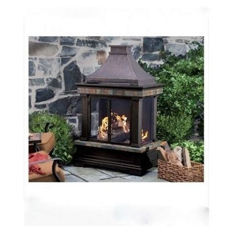 Outdoor Fireplace Screens by Outdoor Wood Fireplace Slate Trim Pit Bowl