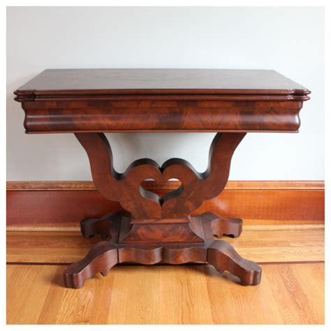 #F4466 Mahogany Game Table   Bogart, Bremmer & Bradley Antiques