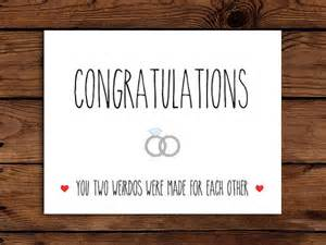 wedding card printable congratulations card engagement card you two weirdos were