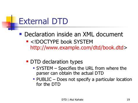 tutorial xml y dtd 2 dtd validating xml documents