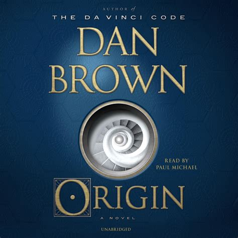 Origin A Novel origin audiobook by dan brown read by paul michael for just 5 95