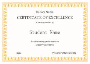 perfect example of editable certificate of excellence