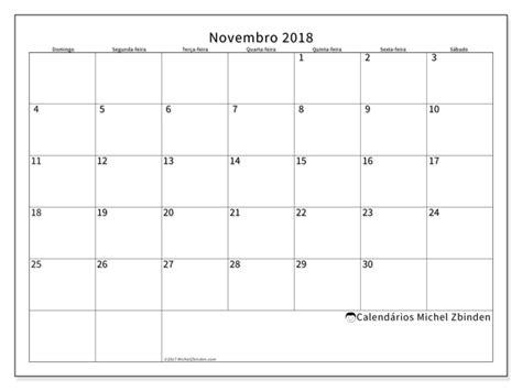 Calendario Novembro 2018 Calend 225 Rios Para Imprimir Novembro 2018 Brasil