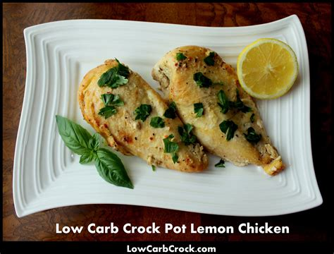 low carb crock pot lemon chicken from frozen chicken breasts