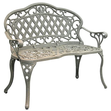 iron patio bench patio furniture bench cast aluminum iron loveseat regis