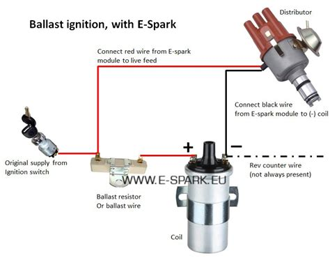 how to connect a coil resistor installation e spark