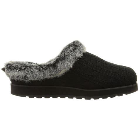 skechers womens slippers skechers womens keepsakes fluffy trim