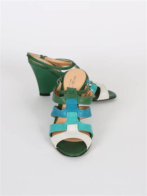 Green Barjad Api High Quality 100 sergio green blue leather strappy sandals 36 luxury bags