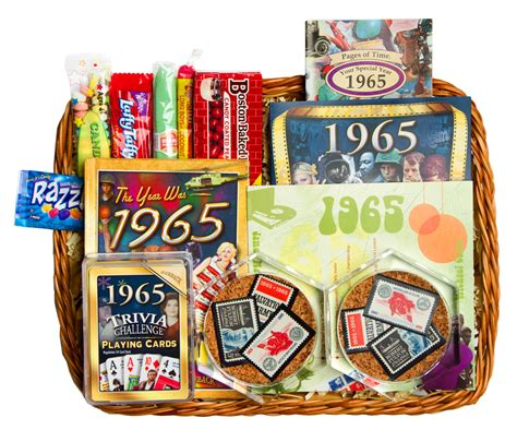 Wedding Anniversary Gift Baskets by 50th Wedding Anniversary Gift Basket With 1965 Or 1966 Sts