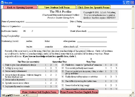 fba template functional behavior assessment trend bloguez
