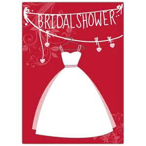 bridal gown red shower invitations paperstyle