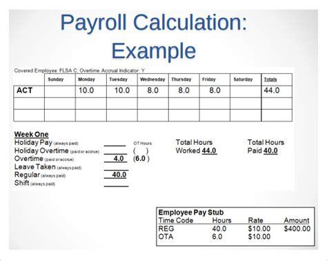 payroll timesheet calculator resume template sle