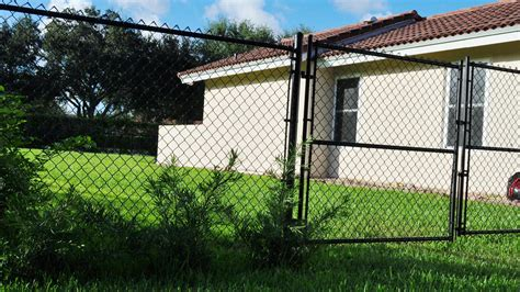chain link swing gate aluminum fences in south florida aluminum gates in south