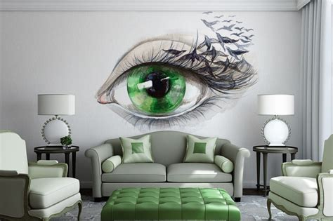 artistic living room 15 refreshing wall mural ideas for your living room