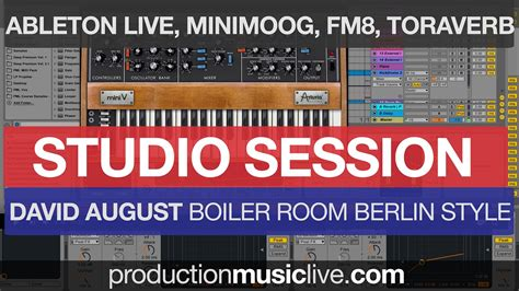 david august boiler room studio session melodic ableton live style david august boiler room berlin electronica