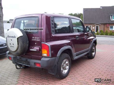 ssangyong korando 2000 2000 ssangyong korando photos informations articles