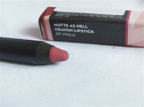 Lipstik Viola new sugar cosmetics matte as hell lip crayon review swatches of all 6 shades