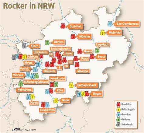Motorrad Club In Nrw by Das Sind Die Reviere Der Rocker An Rhein Und Ruhr Waz De