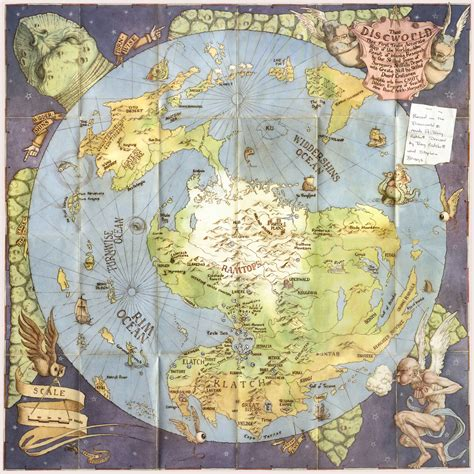 discworld map what i m reading it s all narrative