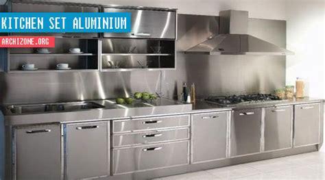 bahan untuk membuat kitchen set sendiri model kitchen set aluminium kaca sederhana arsitektur