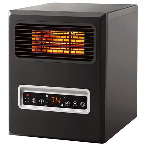 cabinet heater with thermostat mainstays 4 element infrared plastic cabinet heater black