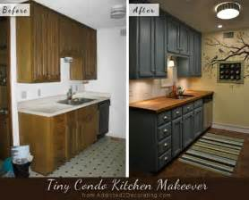 Paint Kitchen Cabinets Before And After Black Painted Kitchen Cabinets Before And After