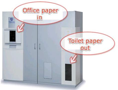 Machine For Toilet Paper - japanese machine turns office paper into toilet paper w